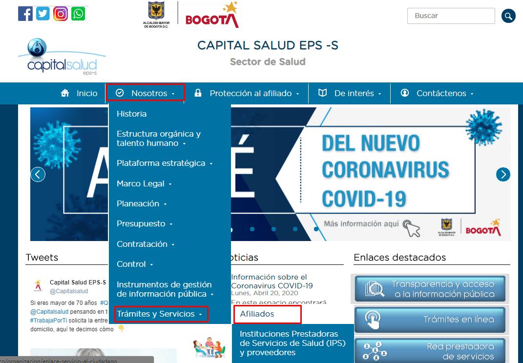 Imagen: Certificado Capital Salud | Descarga tu Certificado EPS