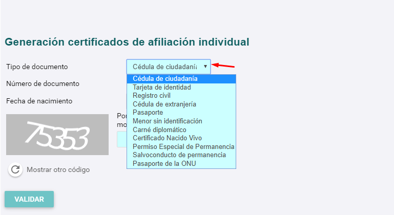 Certificado de Afiliacion Emssanar 2021